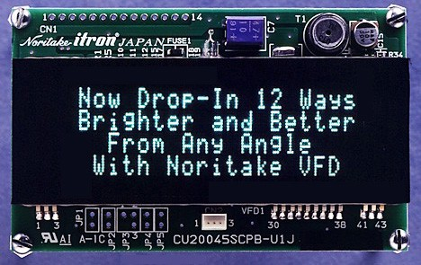 VFD Module 20x4 Ch. Wide Op. temp. -40-+85°
