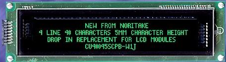 VFD Module 4 lines x 40 char LCD compatible