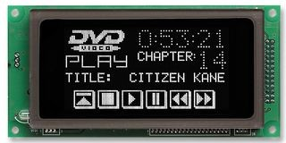 VFD Graphic Module 126x64 dot with RS232/SPI