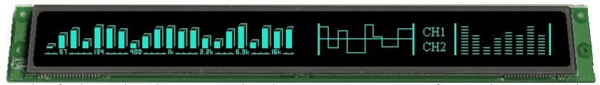 VFD Graphic Module 512x32 Dots 0.6x0.8mm Dot Pitch