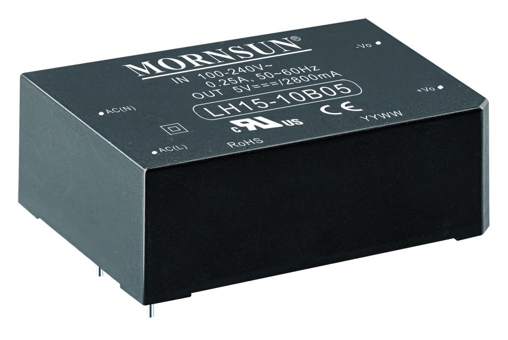 AC/DC Module 15W 85-264VAC,50/60Hz, 15V/1000mA Out, 80% Eff.