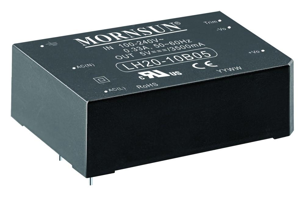 AC/DC Module 20W 85-264VAC,50/60Hz, 9V/2100mA Out, 77% Eff.