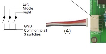 External switch cable 35 cm