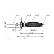 Steckerstift ø 3 mm, mit Löt-Schraubanschluss