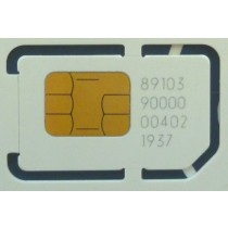 Mini-SIM Card 15x25 mm -25° - +85°C