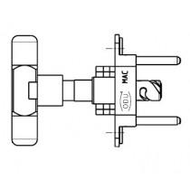 MAC Stiftteil kpl. mit 4 Isolierkörper je 10-pol