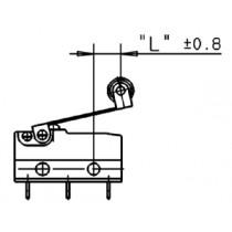 Zusatzbetätiger mit Rolle, Länge 39,70 / 41,20 mm