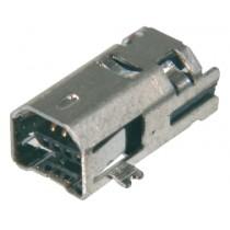 USB, Typ B-Mini, 4 pol. SMD, M-Bauform