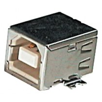 USB, Typ B, SMD, gewinkelt / Tray