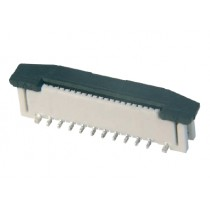 FFC Connector, ZIF, 0.50 mm, 12-polig
