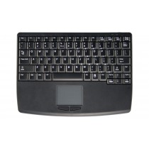 Wireless RF Flat Centric Touchpad Keyboard, USB, Black, Swiss layout