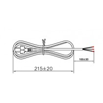 Power cord  H05VV-F3 x 0.75 mm2