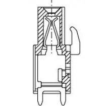PC-Buchsenleiste, zusammenbaubar, 02 pol. RM 5.08mm