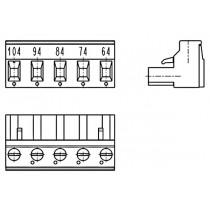 PC-Schraubklemme, anreihbar, 05 pol., RM 7.62mm