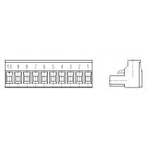 PC-Schraubklemme, anreihbar, 10 pol., RM 5.00mm