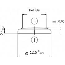 Lithium-Batterie 3V/38mAh, Einzelblister
