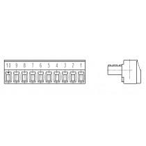 PC-Schraubklemme, anreihbar, 10 pol., RM 3.50mm