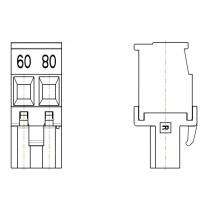 PC-Schraubklemme, anreihbar, 02 pol. RM 5.00mm