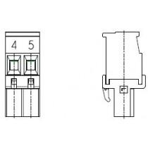 PC-Schraubklemme, anreihbar, L, 02 pol. RM 5.00mm