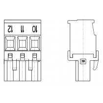 PC-Schraubklemme, anreihbar, 03 pol. RM 5.00mm