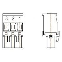 PC-Schraubklemme, anreihbar, R, 03 pol. RM 5.00mm