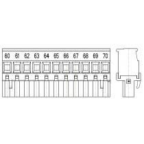 PC-Schraubklemme, anreihbar, 11 pol. RM 5.08mm