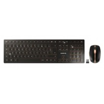 CHERRY Keyboard+Mouse DW 9100 SLIM wireless+Bluetooth schwarz-bronce EU Layout USB-C