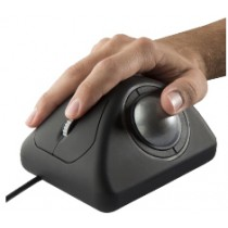 Panel mount ergonomical trackball & Scroll Wheel 50mm ball USB, black softtouch finish