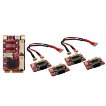 mPCIe to 4x RS232/422/485