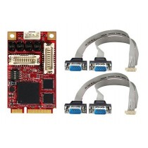 mPCIe to four RS-232/422/485 Module, ext. temp
