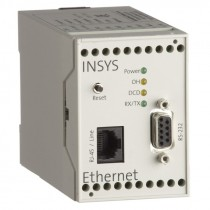 Serial Ethernet Gateway for DIN-Rail (Ethernet, 10BT), 2 inputs/ 2 outputs