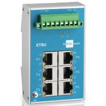 Switch unmanaged, 6xRJ45 10/100Mbit/s 2 redundant supply inputs