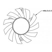 FAN 12V/2.54 white 3pin(black,red,white), 265mm, AWG28