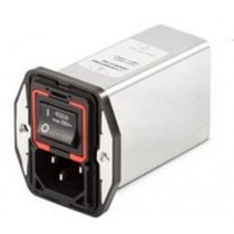 IEC Power Entry, 1-Stage 250VAC, 1A, Spring, E-Line Choke, Snap-in