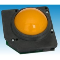 Trackball 75 mm yellow