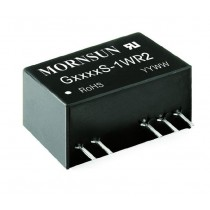 DC/DC 1W Fixed Input 12V dual Out 15V 6kVDC -40..+85C SIP
