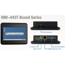 "4.3"" HMI w/Case 128MB/8MBSPI/USB/LAN/RS232/SD/DC7-24V"