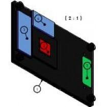 Heatspreader for COMe-mVV10, through holes