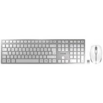 CHERRY Keyboard+Mouse DW 9000 SLIM wireless+Bluetooth silber/weiss DE Layout