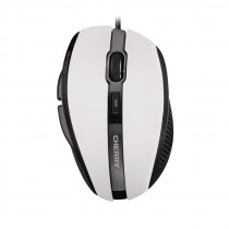 Mouse USB corded optical hellgrau 5 buttons