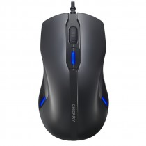 Mouse USB corded optical schwarz 6 buttons LED