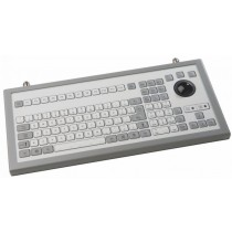 Keyboard with 38mm Trackball enclosed IP65 USB German Qwertz