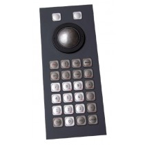 Keyboard 26 keys Trackball 38mm Panel-Mount USB