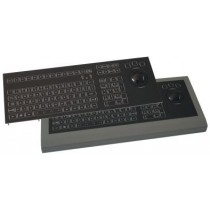 LED Keyboard 106 key 50mm Trackball panel mount