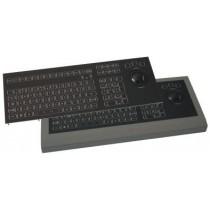 LED Keyboard 106 key 50mm Trackball panel mount