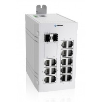 Industrial 18-port managed Ethernet switch-40 °C to 75 °C of operating temp., dual DC power input