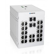 Industrial 28-port managed Ethernet switch-40 °C to 75 °C of operating temp., dual DC power input