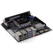 KTQM87/mITX i3-4100E, w. 2x GB LAN, 3x DP, AMT 9.0, RAID, Incl. ActiveCooler