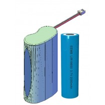 Lithium-Batterie 18650 2P Pack 3,7V/4Ah mit Kablage