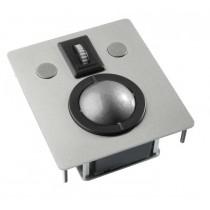Trackballmodul 50mm Edelstahl Combo (USB+PS/2)